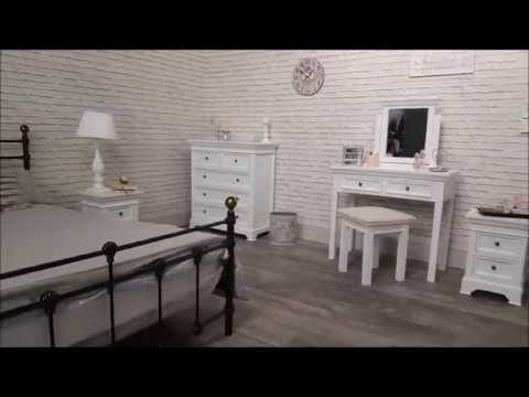 Melody Maison: The Daventry White Range - White, Wooden Bedroom Furniture