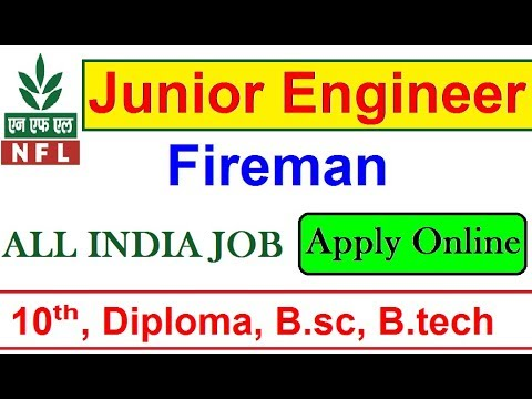 Latest Govt Job // Junior Engineering & Fireman Vacancy // National Fertilizer Ltd Recruitment