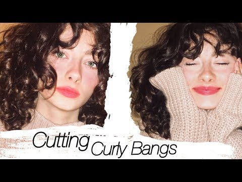 Cutting Myself Curly Wavy Curtain Bangs Youtube