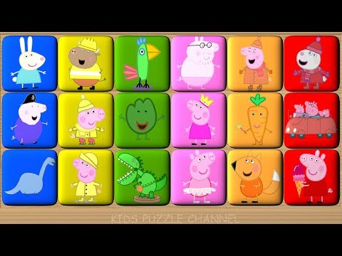 Peppa Pig Learn Colors Game - Video for Kids - Blocks Puzzle
