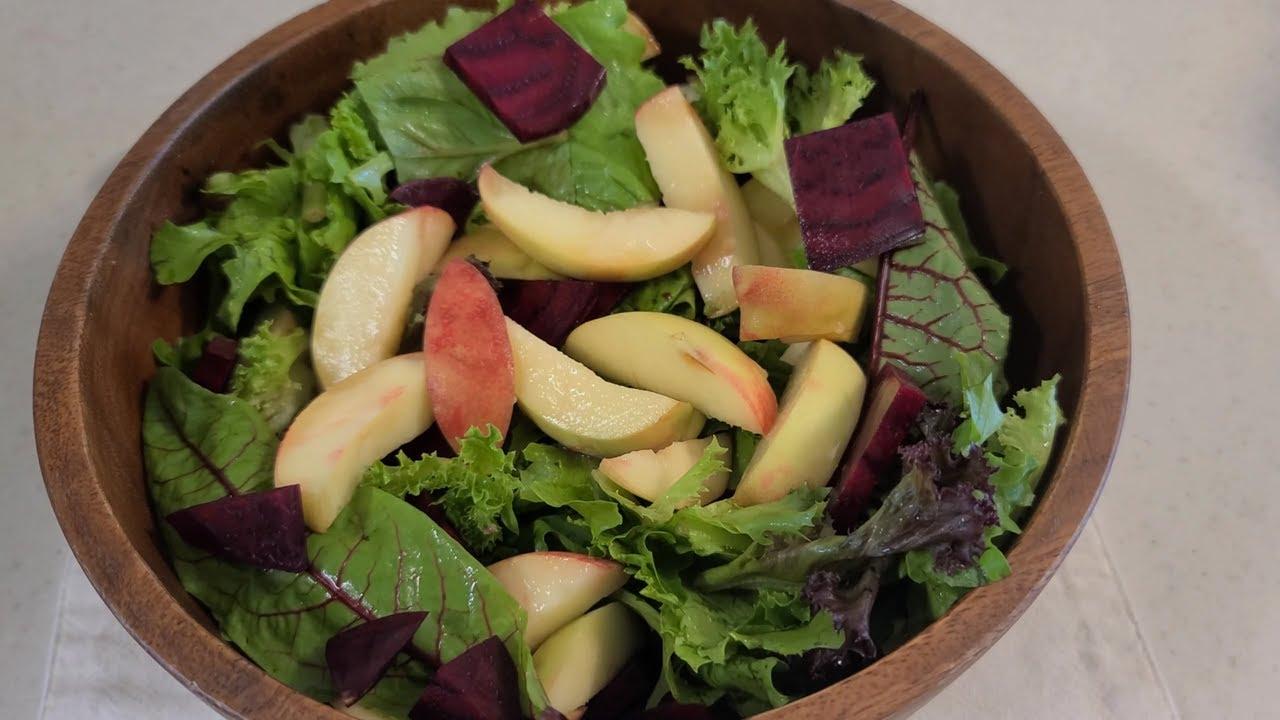 지중해식 복숭아 비트 샐러드, Mediterranean Peach and Beet Salad