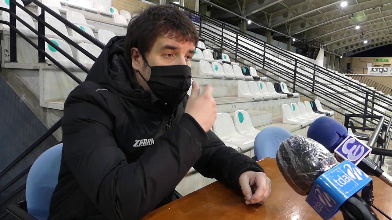 Jornada 15. Aitor Zulaika, tras el partido Real Unión-CD Laredo