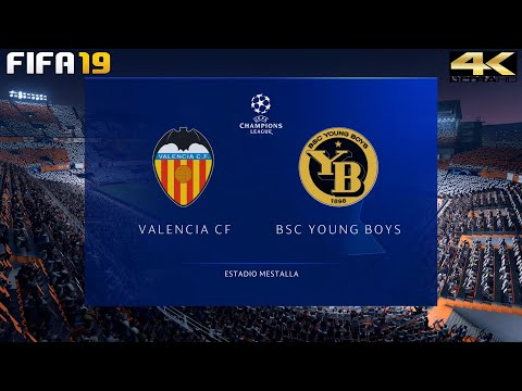 FIFA 19 (PC) Valencia vs Young Boys | UEFA CHAMPIONS LEAGUE PREDICTION | 7/11/2018 | 4K 60FPS