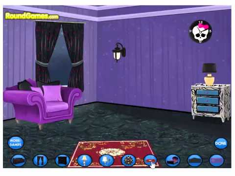 Monster High Bedroom Decorations (Girl Game)