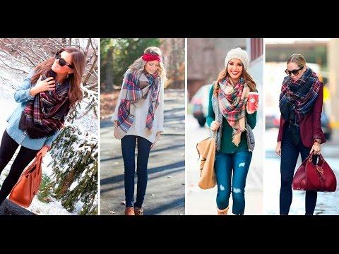 maxi bufandas para otoño invierno 2016