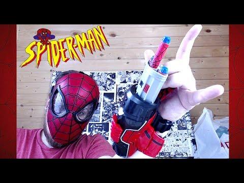 "Игрушки ""Spider-Man"" - Маска и Нерф бластер - Nerf ЧЕЛОВЕК ПАУК обзор"