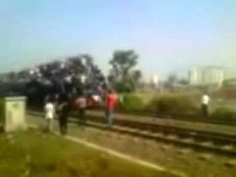 Photographer On The Train Tracks Hit By Train Youtube