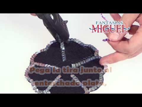 Como hacer una diadema con flor de lentejuela youtube - Como hacer diademas ...