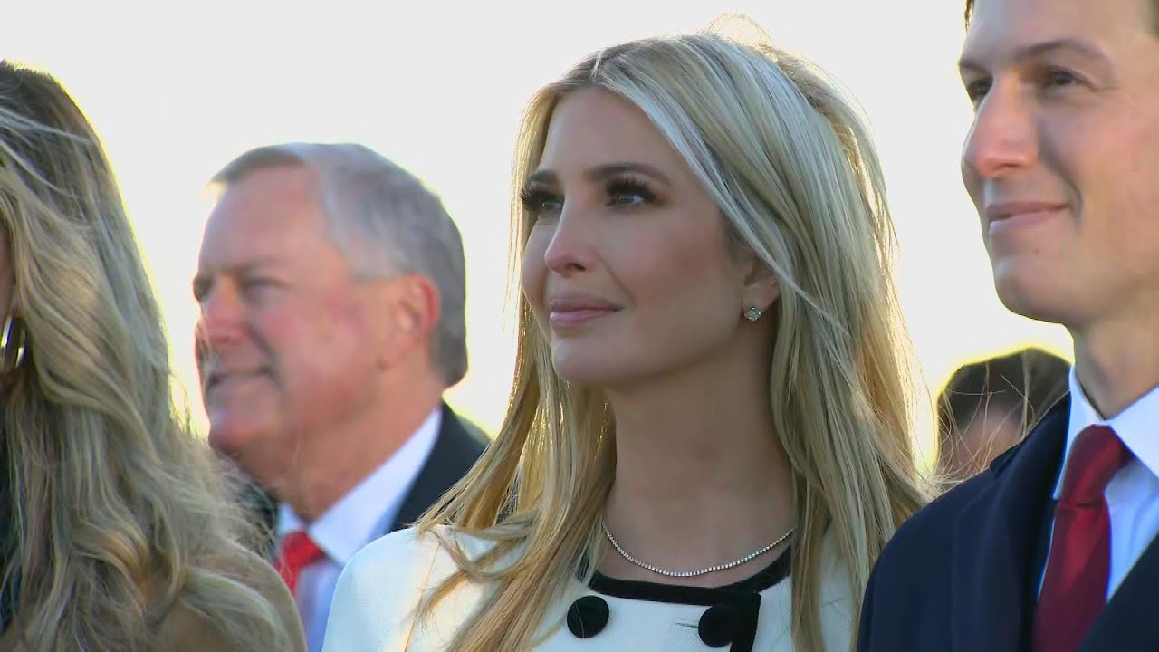 Ivanka Trump weeps as her dad leaves White House