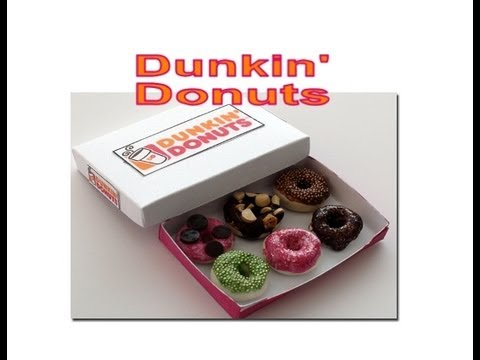 diy how to make dunkin donuts with polymer clay youtube