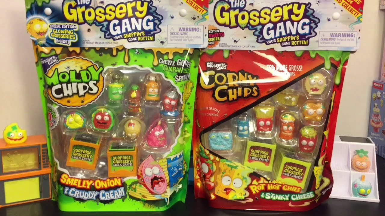 Grossery Gang Series 2 Moldy Chip Amp Series 1 Corny Chips