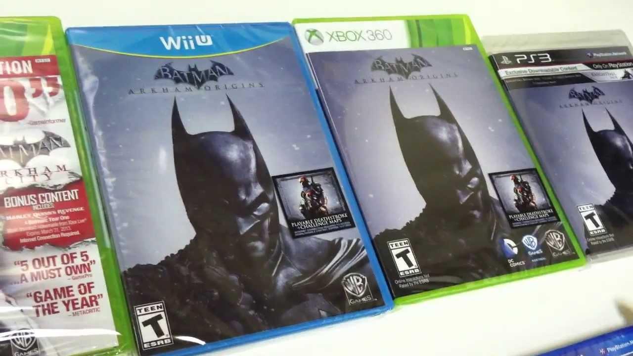 Unboxing Batman Arkham Origins Xbox 360 PS3 - YouTube