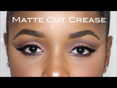 matte cut crease fall makeup tutorial  ellarie  youtube