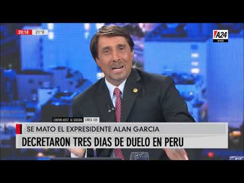 Se suicidó el ex presidente Peruano Alan García