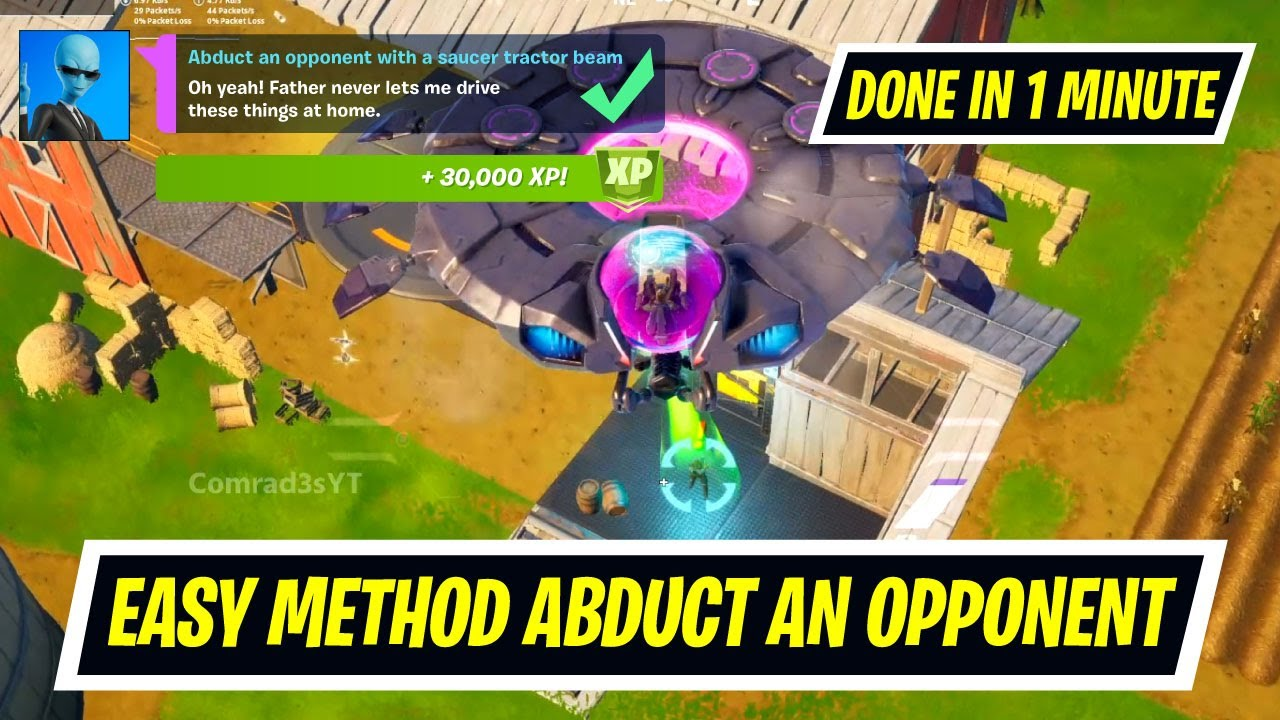 Download (IO Guard Works) Abduct an opponent with a saucer tractor beam in Fortnite - Week 4 Epic Quest