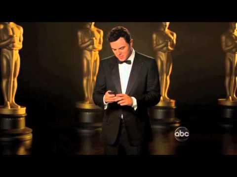 Oscars Promo: Seth MacFarlane Checks Twitter