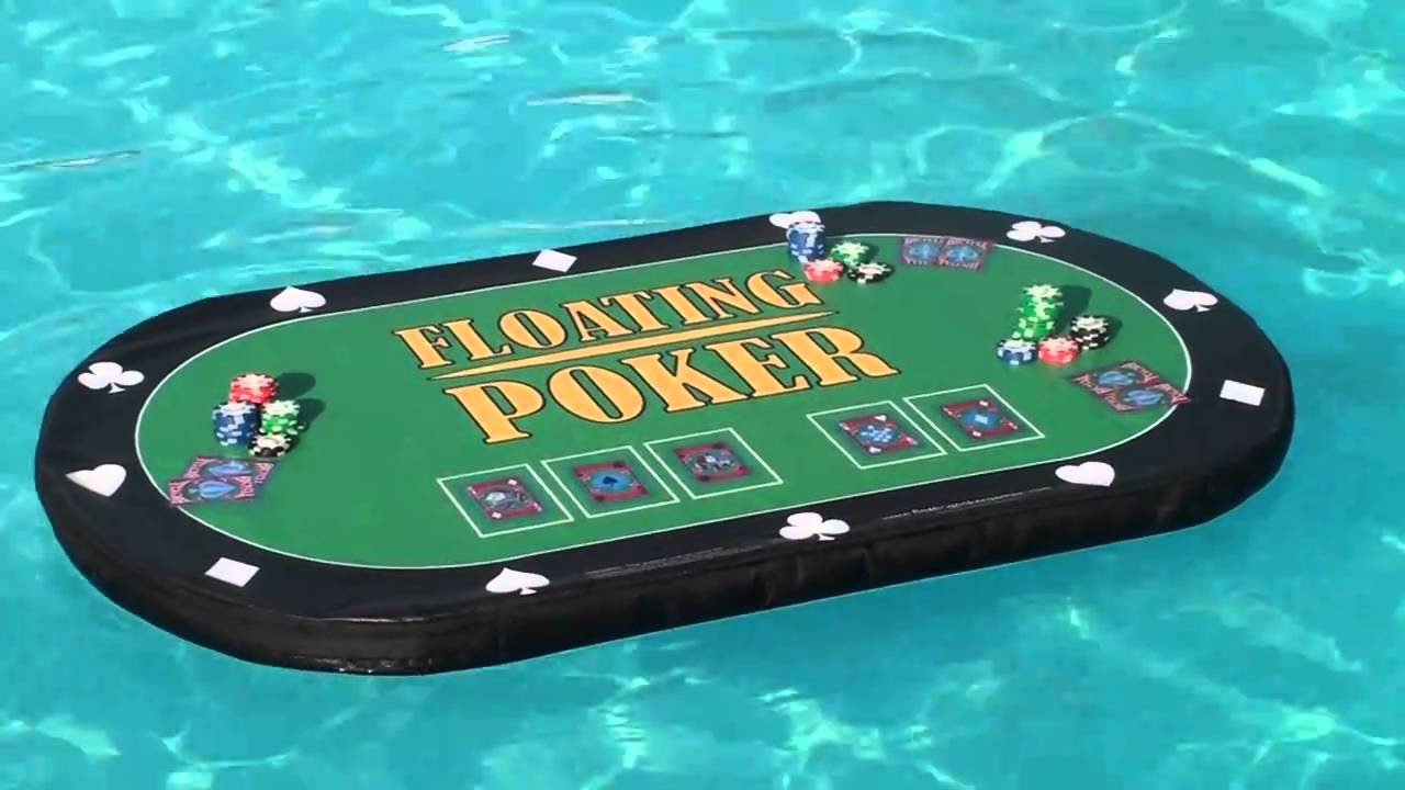 swimming pool poker floating poker table hot tub poker
