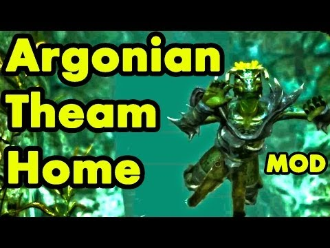 Skyrim Home Mod: Darkwater Den: Best Argonian Theme Cave House