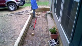 Landscape Timber Installation Progress - Part 1