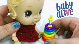 Baby Alive Gets Worlds Smallest Fisher Price Rock A Stack