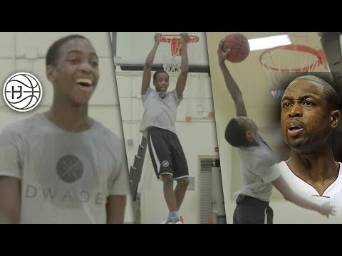 How Dwyane Wade SON Trains for CRAZY Handles!! Zaire Wade and DaDa Morris Showing Off Handles