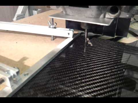 Home Built Cnc Router Cutting Carbon Fiber Sheet Youtube