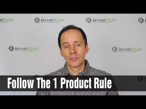 Want to License Your Idea? Follow the 1 Product Rule
