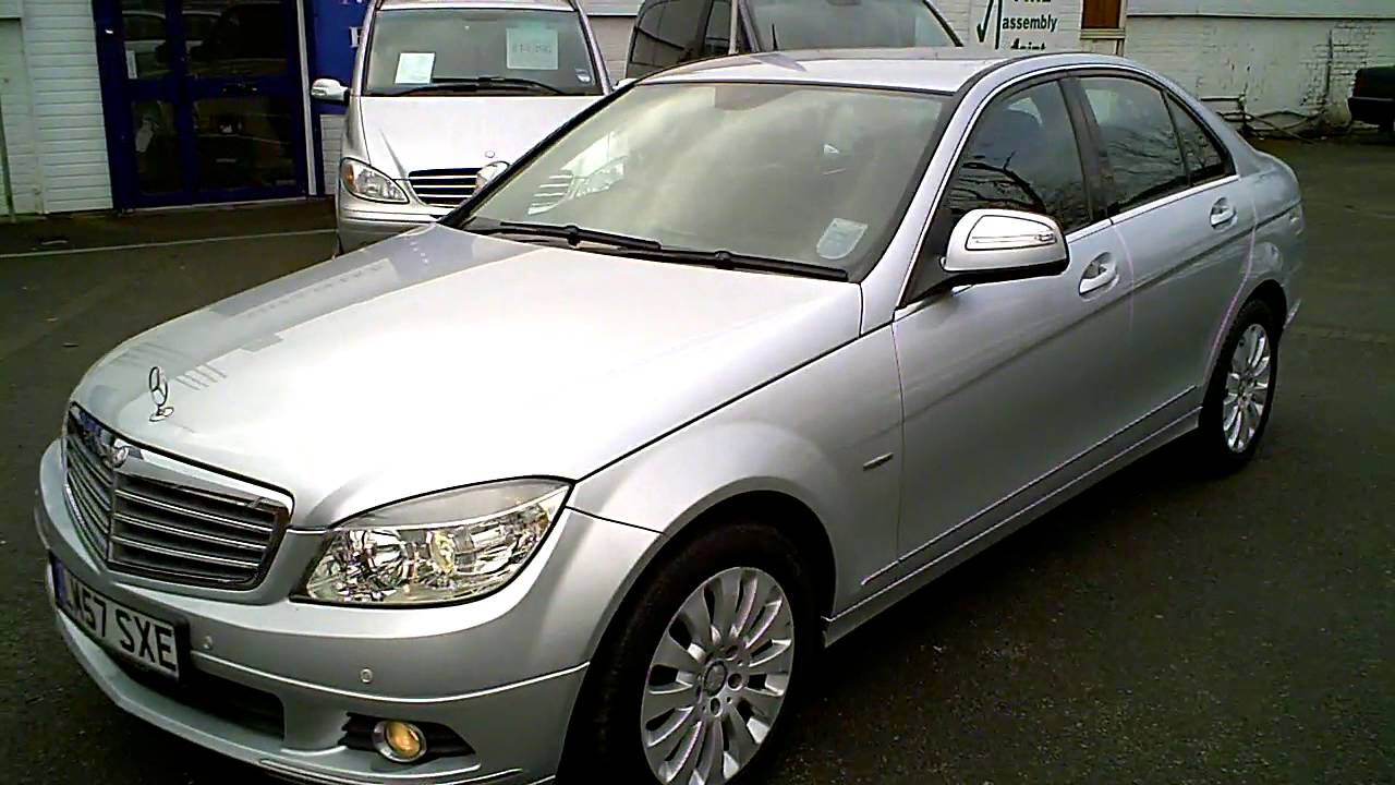 2008 mercedes c220 cdi elegance automatic diesel silver youtube. Black Bedroom Furniture Sets. Home Design Ideas