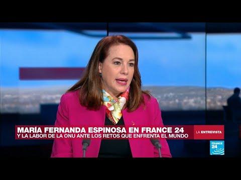 """María Fernanda Espinosa: """"Las mujeres podemos y debemos hacer la diferencia"""""""