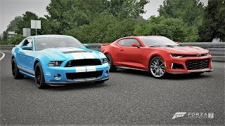 Forza 7 Drag race: Ford Mustang Shelby GT500 vs Chevrolet Camaro ZL1 (2017)