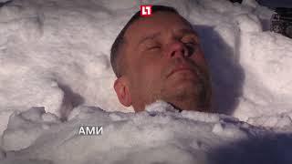 Морж хочет прыгнуть голым с парашютом в Арктике