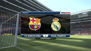 Fc barcelona vs real madrid (spanish commentary) - 2/4/2016 pes 2016