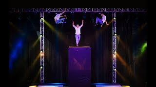 Jaw-dropping Double Sided Trampoline Wall Show | Dunking Devils