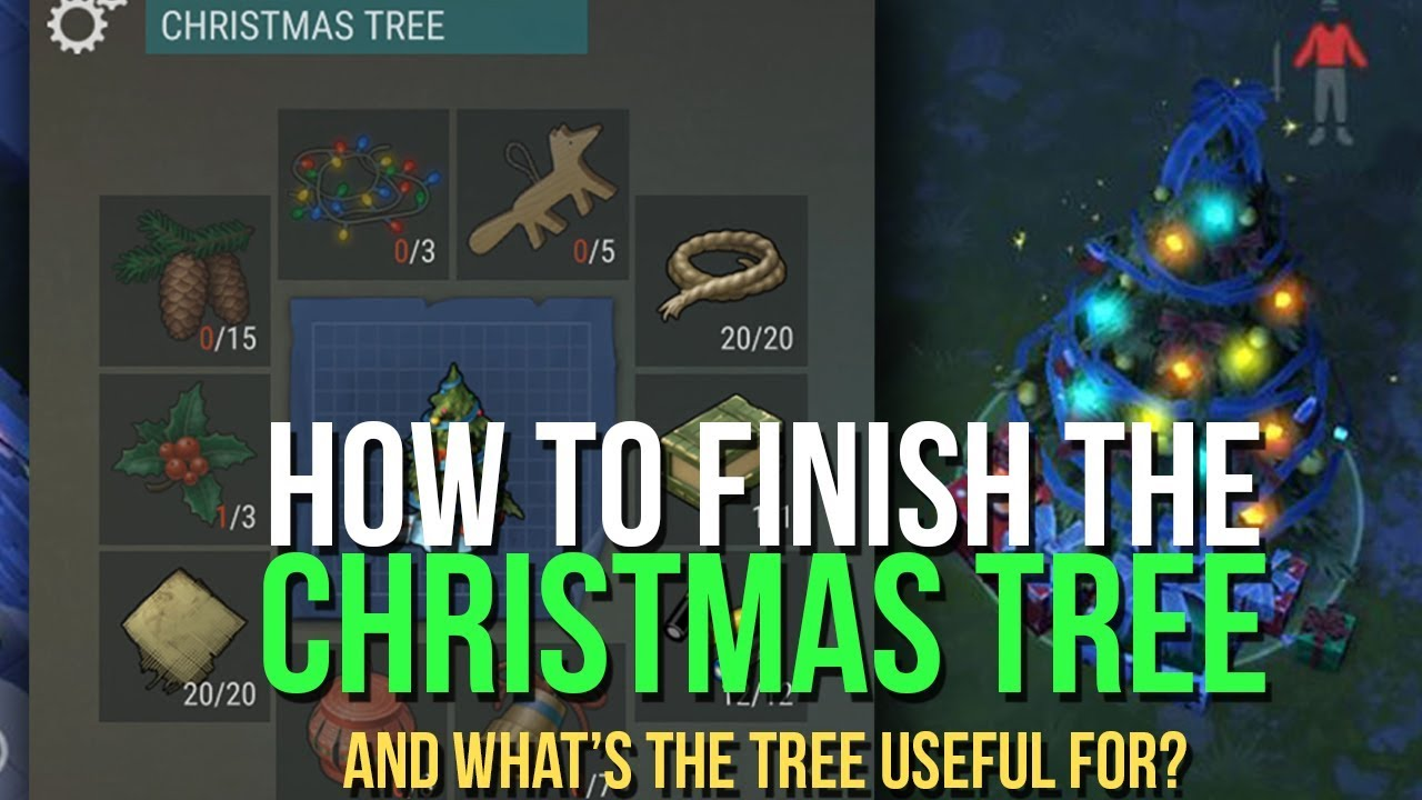 How To Finish The Christmas Tree Get Holly And Cone Last Day On