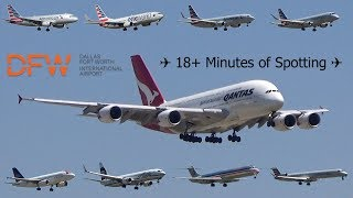 INSANE ACTION | 18+ Minutes of Planespotting at Dallas/Fort Worth International Airport!