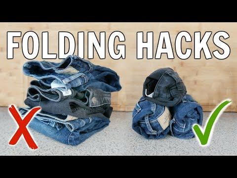 Ingenious Clothing Folding Hacks To Save Space