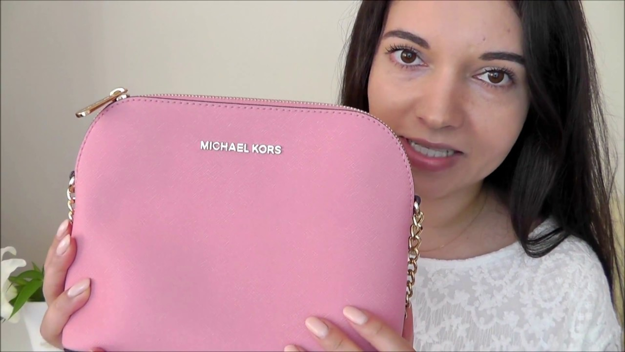 b8f01f7fe470 Michael Kors Cindy crossbody bag review - YouTube