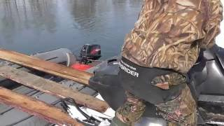 Камчатка весна 2016.  Переправа снегоходов на резиновой лодке. Камчатский экстрим.(, 2016-06-13T20:08:30.000Z)