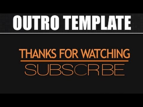 Free Outro #6 FREE Simple  Clean 2D Outro Template - YouTube - free outro template