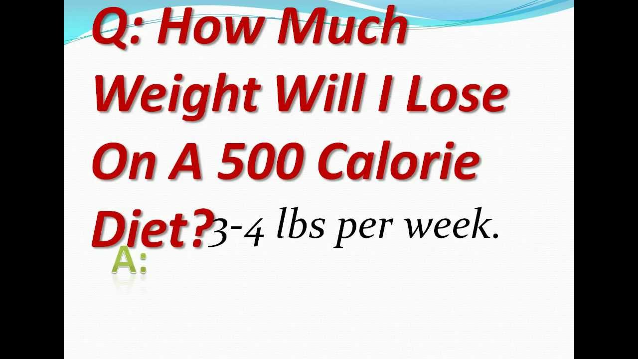 How Much Weight Will I Lose On A 500 Calorie Diet Youtube