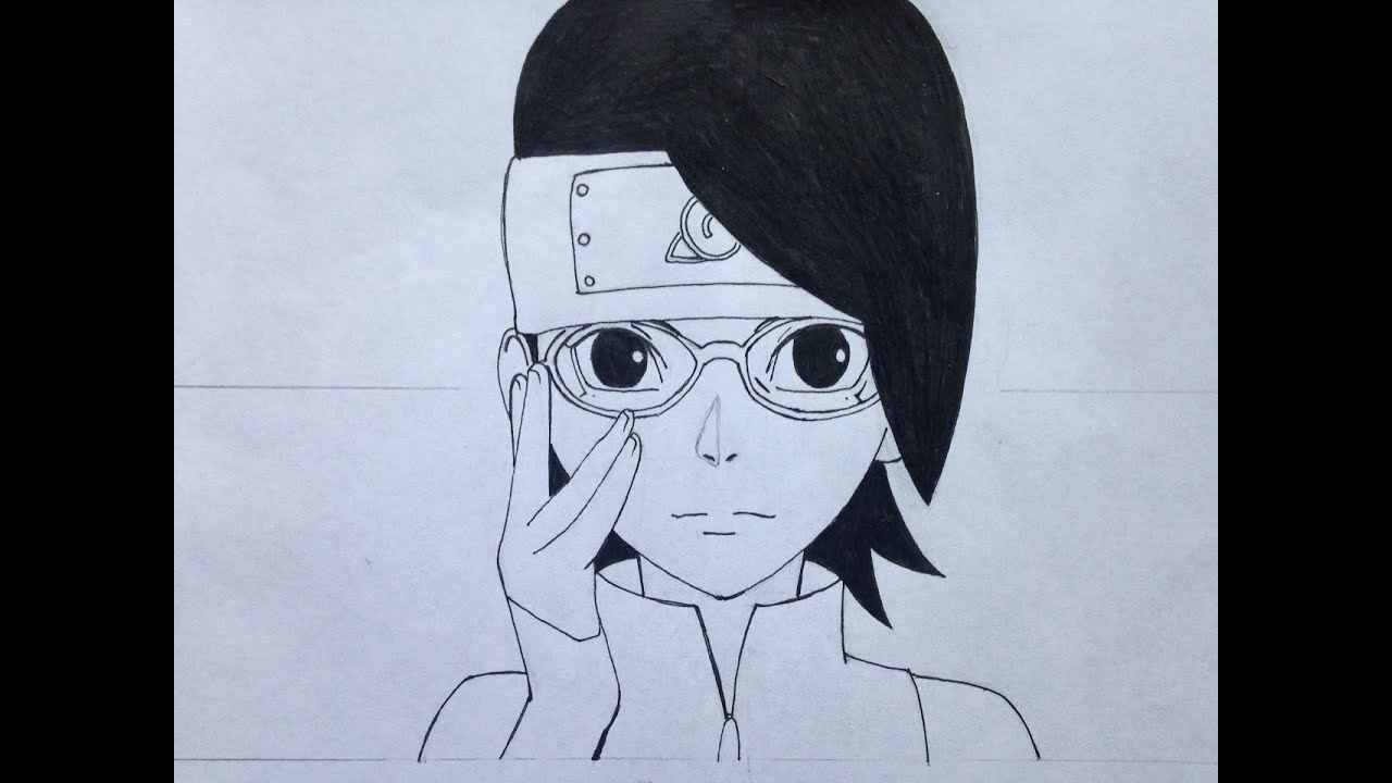 How To Draw Sarada Uchiha Step By Step Tutorial