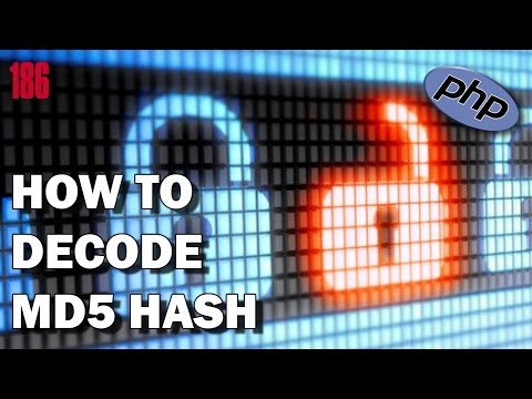 PHP How to decode MD5 Hash