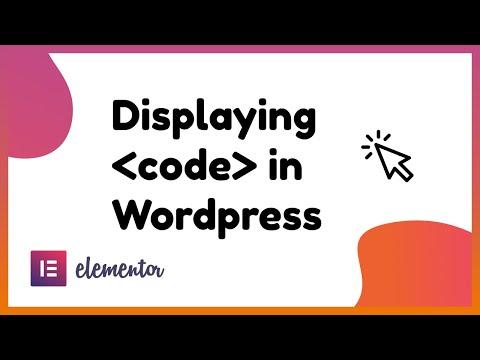 Display Beautiful HTML Code In WordPress And Elementor