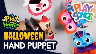 How to Make a Hand Puppet for Halloween ☠ | Halloween Crafts for Kids | PlayHands | Playsongs