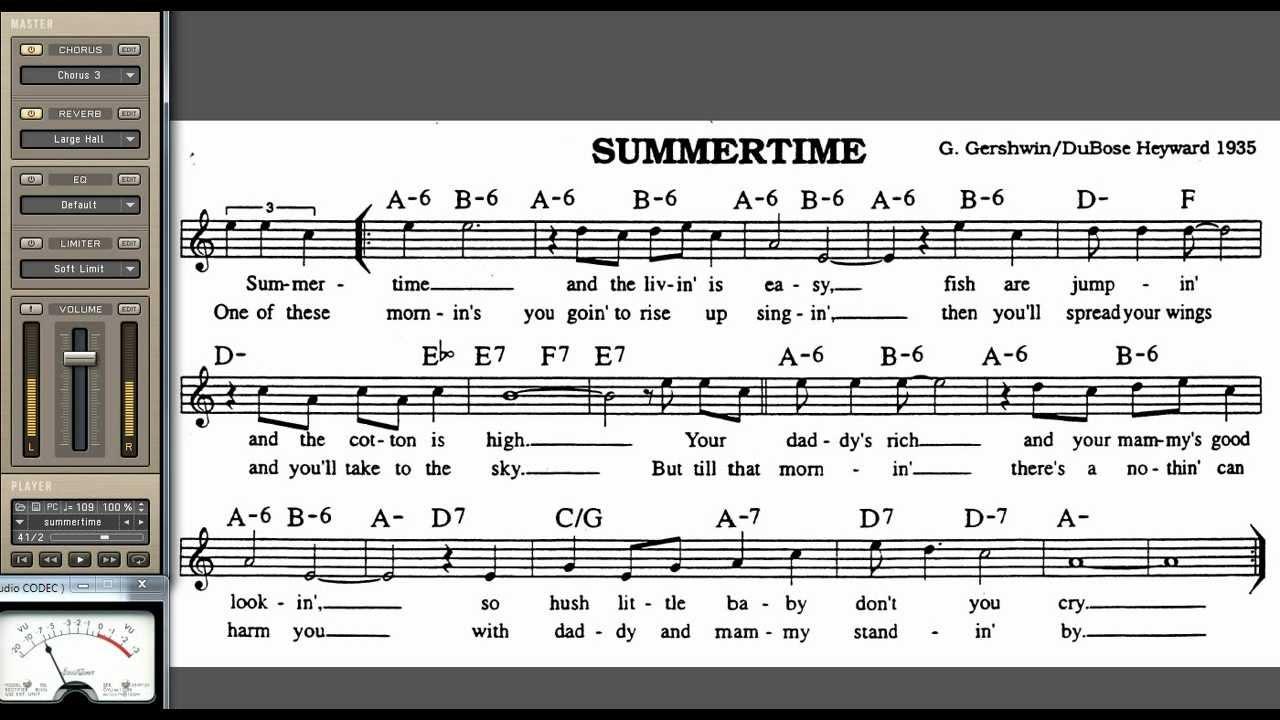 summertime lyrics chords