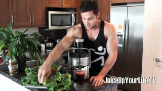 Juice Recipe Liver Cleanse  Beets - Lemon - Pair - Carrot - Ginger - Watercress - More
