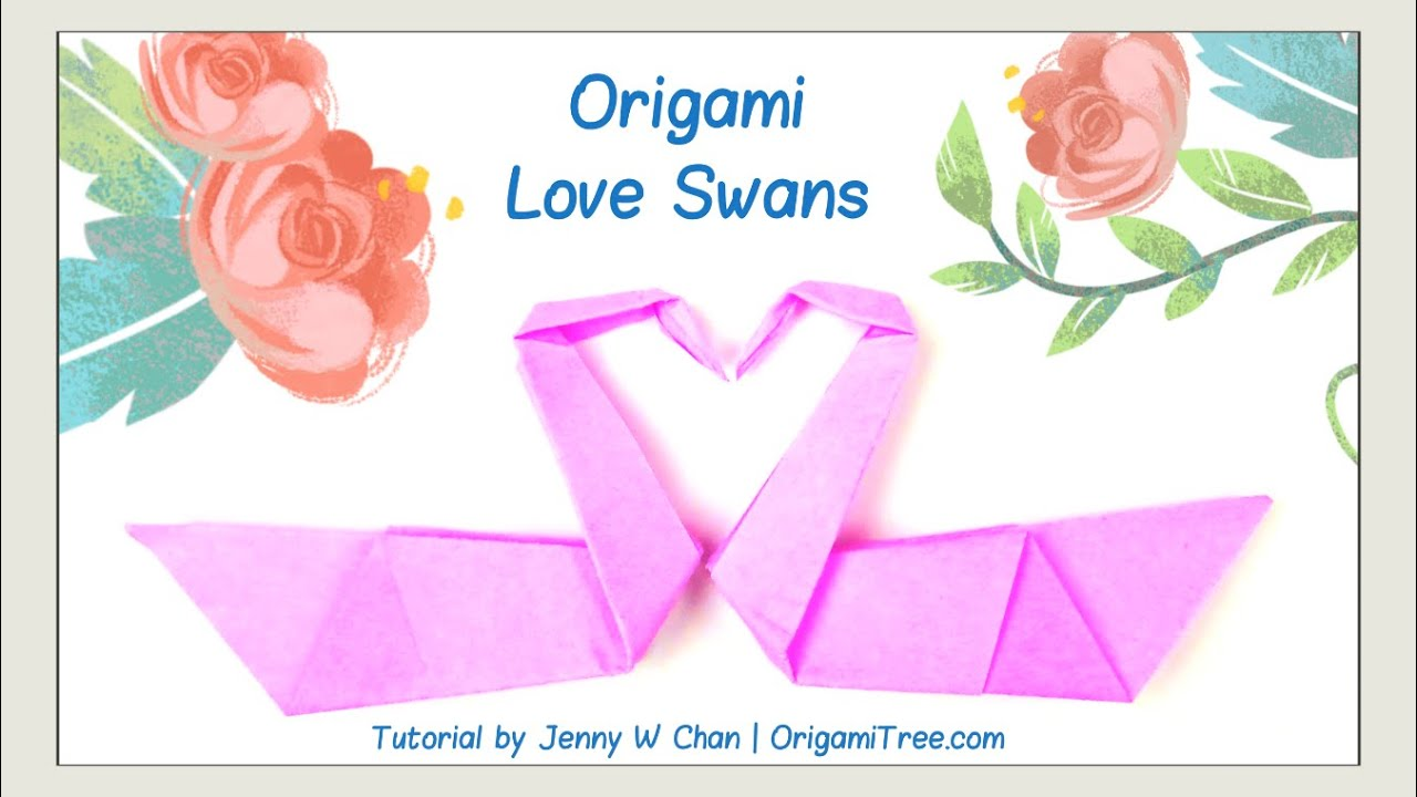 How to origami a swan - Valentine S Day Crafts Origami Swan Love Birds Origami Bird Easy Paper Crafts Kids Classroom Youtube