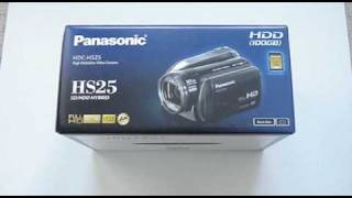 Panasonic HS25 100GB HDD Camcorder Unboxing