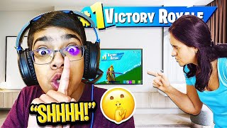 Kid gets CAUGHT Playing Fortnite while GROUNDED! The End of Crazy Cousin...