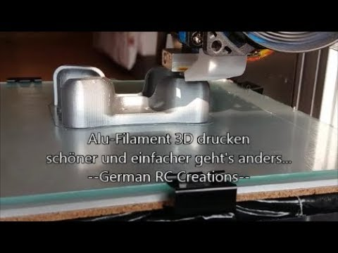 Alu-Filament 3D Drucker / Aluminium bad Print! II / DIY RC CAR Protector 02 / Anet A8 PK8 3D Drucker